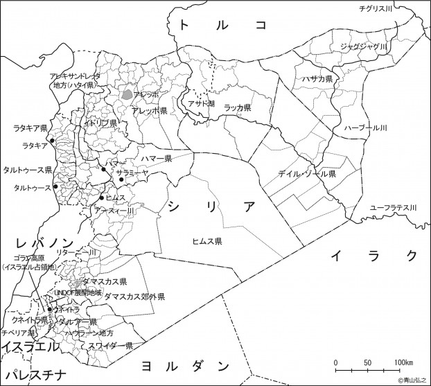 シリア地図