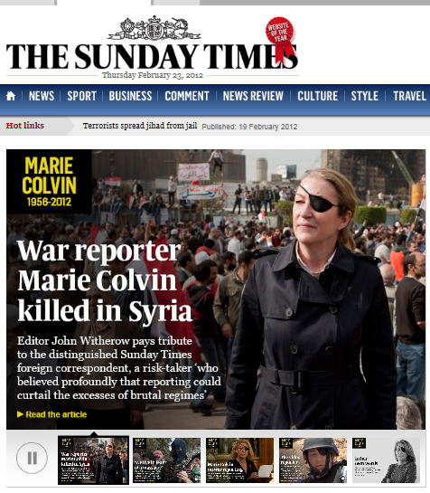 The Sunday Times, February 22, 2012